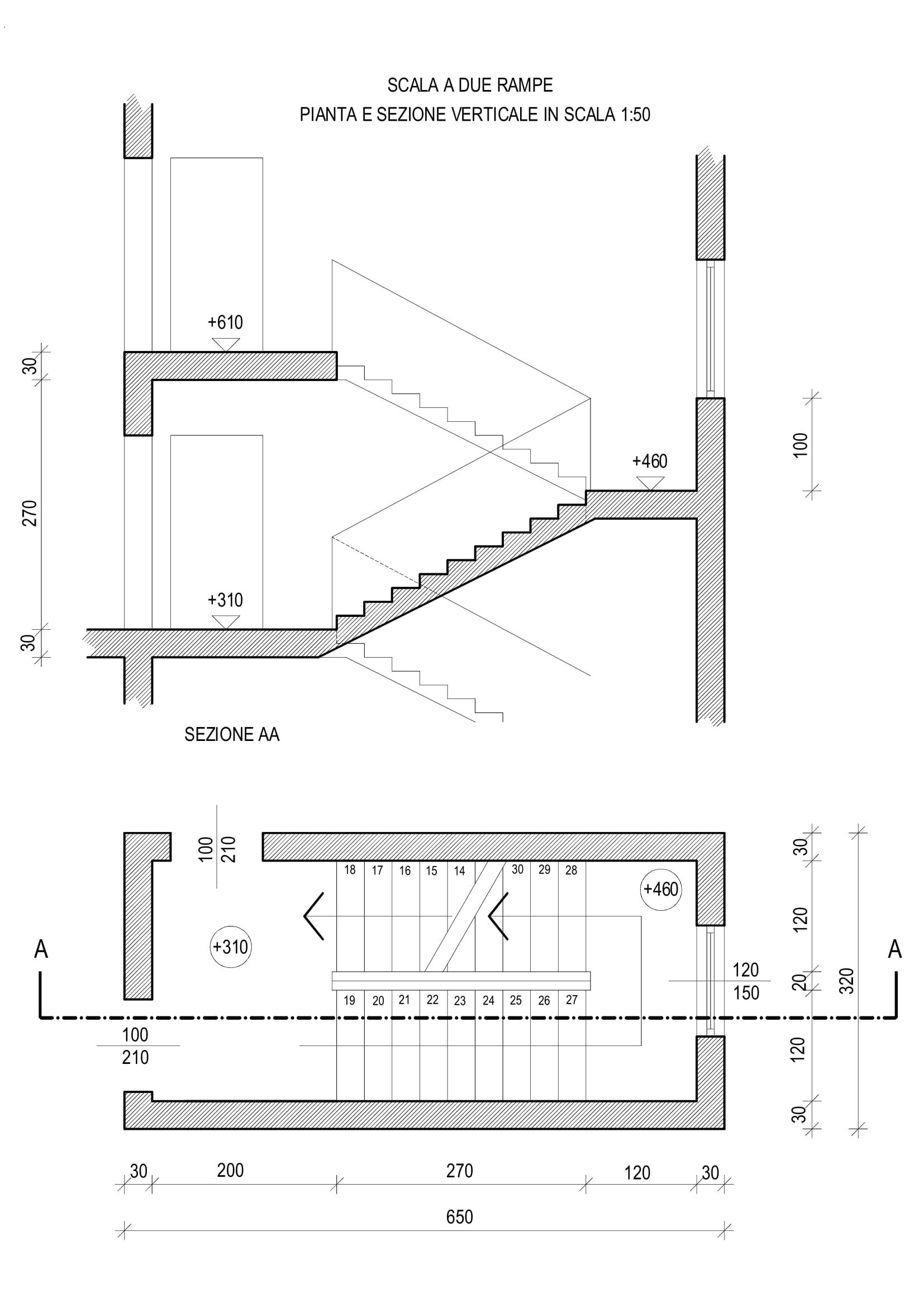 Disegno 1 for Disegnare una scala a chiocciola con autocad