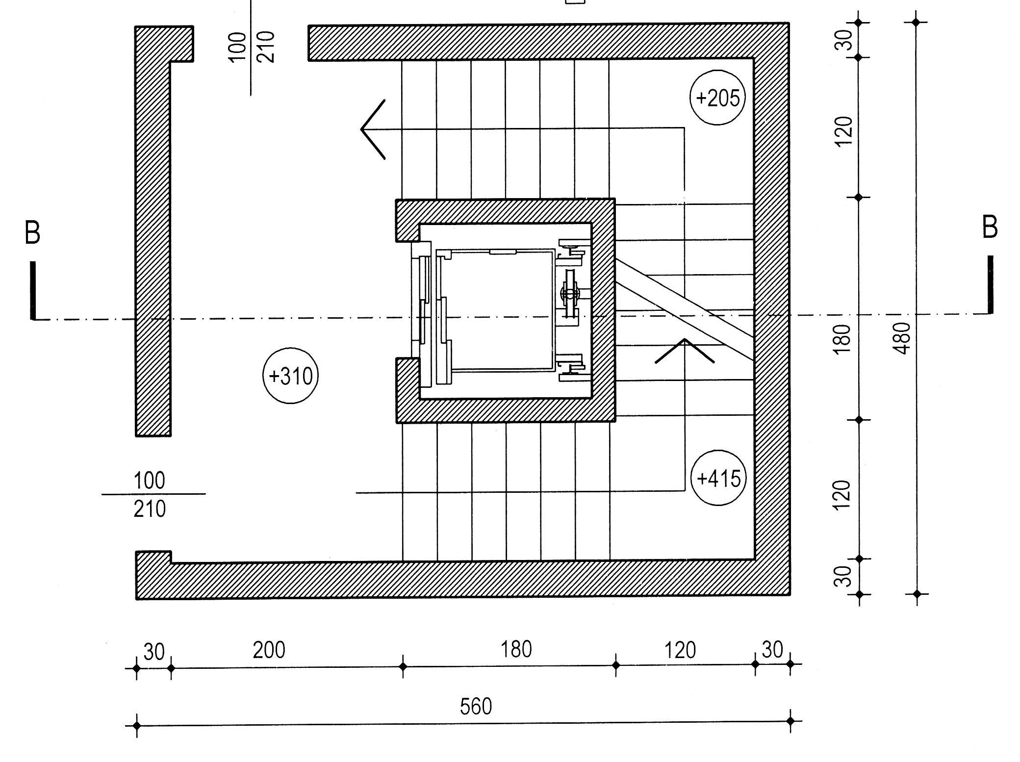 Disegno 2 for Dimensioni ascensore