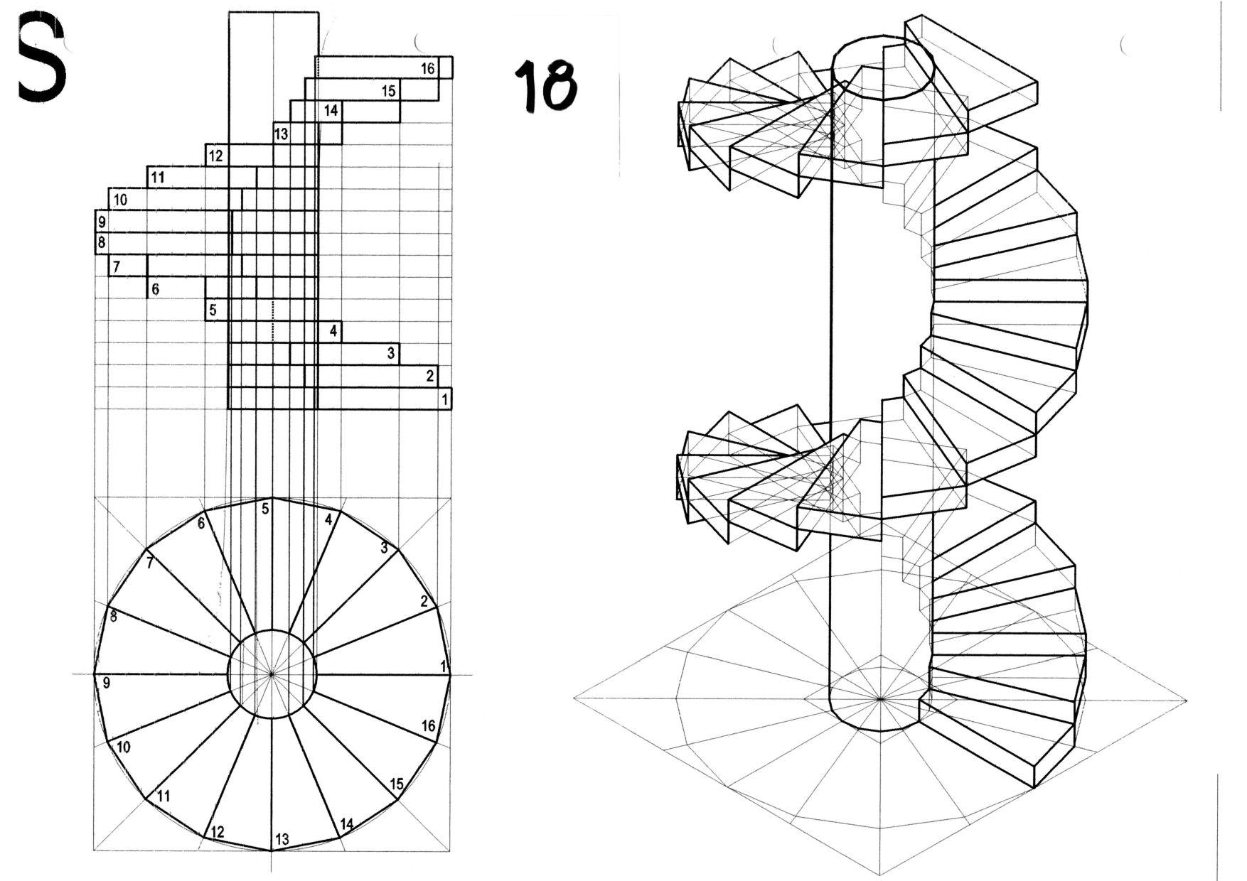 Disegno 2 for Disegnare una scala a chiocciola con autocad